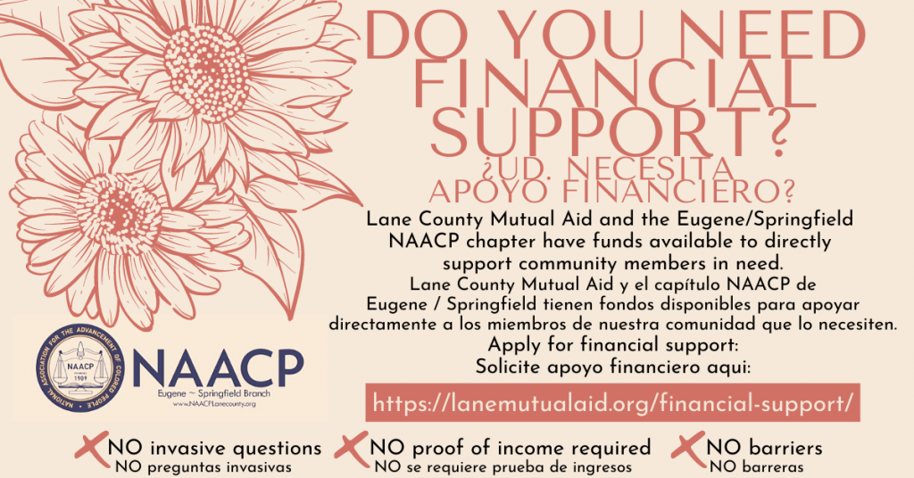 Need financial support? Go to lanemutualaid.org/financial-support